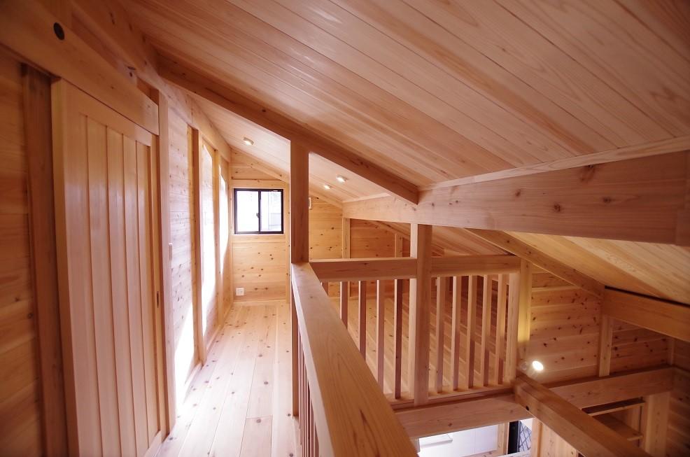 平屋のような二階建ての二階スペース